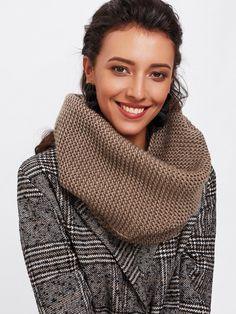 Scarves by BORNTOWEAR. Knit Infinity Scarf