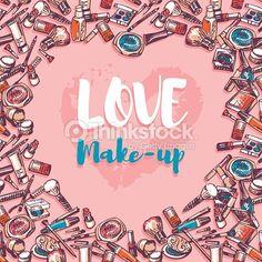 506582574 416x416 Love MakeupMakeup ProductsCosmeticsWallpaperVector BackgroundHand DrawnWallpaper DesktopHand DrawingsTapestry