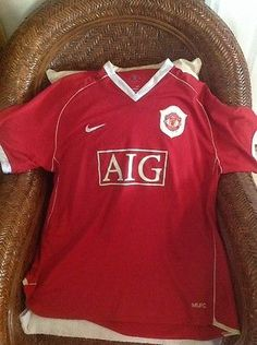 NIKE Rare Manchester United 2006 Red Devils soccerJersey size XXL MENS