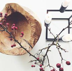 Teak tray and kubus by lassen styling by @birklykke