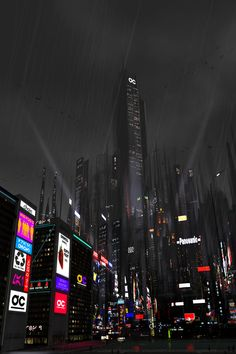 Cyberpunk Atmosphere, Futuristic City, Neo-Noir, Dark Future, 'The Kingdom' by…