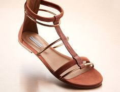 Vic - Rose Gold Flat Sandals $139 at MYHABIT