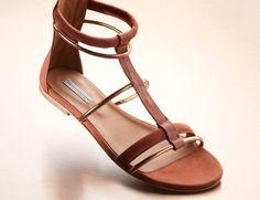 Vic - Rose Gold Flat Sandals $139 at MYHABIT