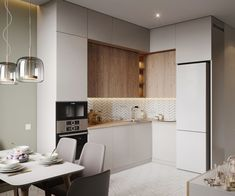 Kitchen Room Design, Home Room Design, Kitchen Cabinet Design, Modern Kitchen Design, Home Decor Kitchen, Interior Design Kitchen, Kitchen Ideas, Small Apartment Interior, Small Apartment Kitchen