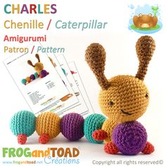 Chenille Caterpillar par FROGandTOAD Créations © #Amigurumi #Crochet #Patron #Pattern #Chenille #Caterpillar #Insecte #Insect