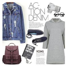 """Action, denim!"" by purpleagony on Polyvore featuring M. Gemi, Eos, BackToSchool, casualoutfit, denimjackets, yoins and loveyoins"