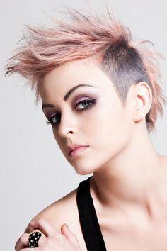 Trendy Pink Fauxhawk