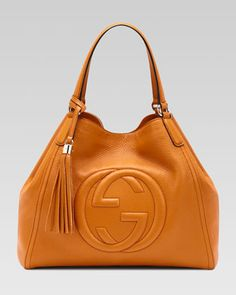 Soho Leather Shoulder Bag, Sunflower by Gucci at Bergdorf Goodman.