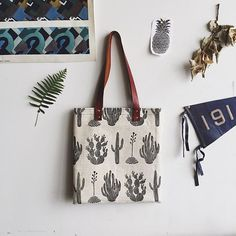 Excited to receive our @ameliemancini #cactus #totes, along with many more of her designs. Gosh, what a talented lady!! Come shop them next #weekend at the @melrosetradingpost or online soon  //  by @ameliemancini