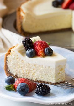 Dazzling Limoncello Cheesecake with Biscoff Crust | http://ASpicyPerspective.com
