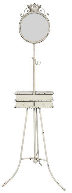 Cód. 106.008 - Gancheira - Móvel Com Espelho E Porta Jóia Em Metal - Oldway - 180x55x60