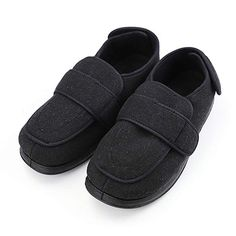 eb926d960663a Buy Mens Extra Wide Slippers with Adjustable Closures Diabetic   Edema  Arthritis Nonslip Footwear Shoes