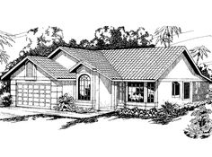 Eplans Cottage House Plan - Three Bedroom Cottage - 1572 Square Feet and 3 Bedrooms from Eplans - House Plan Code HWEPL58532