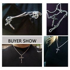 Stainless Steel Jesus Christ Cross Crucifix Pendant Necklace Silver for MEN - Necklaces & Pendants