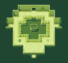 Simple 4-color dungeon tileset. 8x8 pixels.