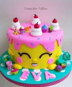 chocolate shopkins cake made for my niece.