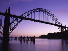 I hate driving over this bridge, but it is beautiful; Yaquina Bay Bridge, Newport