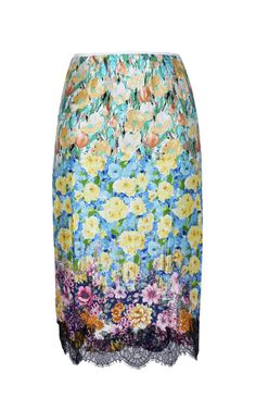 Printed Satin Skirt by Nina Ricci for Preorder on Moda Operandi