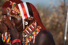 Striking traditional bead work  http://www.mangoafricansafaris.com/