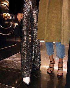 "TARA RIVAS on Instagram: ""Saturday night party pants ✨"" Saturday Night, Sequin Skirt, Sequins, Skirts, Party, Instagram, Fashion, Moda, Skirt"
