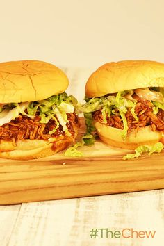 Smother your chicken in Asian BBQ sauce and slaw for Slow Cooker Asian BBQ Chicken Sammies your family will not soon forget!