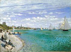 It's About Time: Beach - Claude Monet, The Regatta at Saint-Adresse, 1867