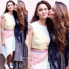 Alia and Kareena promoting #UdtaPunjab yesterday //#AliaBhatt #KareenaKapoorKhan