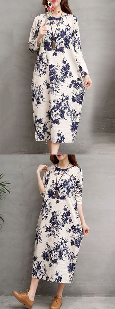 Big w casual dresses casual women ink printed loose long sleeve dress #6 #casual #length #flowy #dresses #casual #dresses #dubai #casual #dresses #hijab #casual #dresses #modest