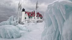 winter pictures of michigan lighthouses - My Photo Bag
