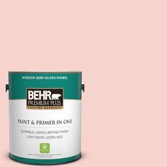 BEHR Premium Plus 1-gal. #M170-1 Pink Elephant Semi-Gloss Enamel Interior Paint