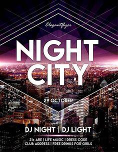 Free Night City Flyer PSD Template…