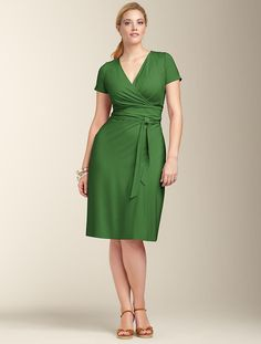Talbots - Wrap-Bodice Dress | Dresses | Woman thank goodness Talbots finally have sizes for all women! $109