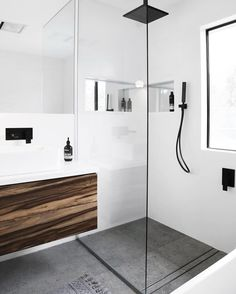 Shower Recess – Tips and Tricks – Small Bathroom Renovations Perth – Small Bathrooms WA Specialists Laundry In Bathroom, Bathroom Renos, White Bathroom, Bathroom Renovations, Bathroom Ideas, Black Bathrooms, Bathroom Taps, Budget Bathroom, Small Bathrooms