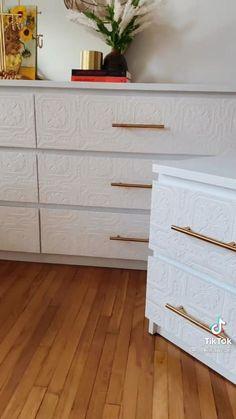 Diy Furniture Renovation, Diy Furniture Projects, Refurbished Furniture, Repurposed Furniture, Furniture Makeover, Home Furniture, Ikea Dresser Makeover, Diy Crafts For Home Decor, Diy Interior