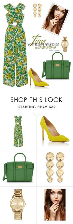 """""""Spring!"""" by schenonek ❤ liked on Polyvore featuring Alice McCall, Manolo Blahnik, Mulberry, Kenneth Jay Lane, MICHAEL Michael Kors and Forever 21"""