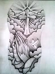 #tattoo #cross #dove #death #mourning