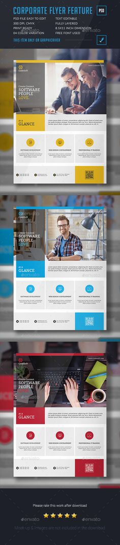 Corporate Flyer Template PSD. Download here: http://graphicriver.net/item/corporate-flyer/15832368?ref=ksioks