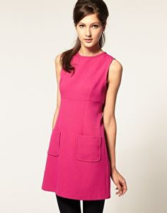 ASOS 60s Shift Dress with High Neck