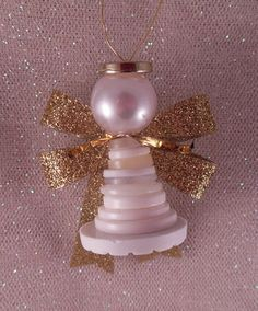 """Button Angels - another lovely way to use up all those buttons! So cute - so easy - no, """"sew"""" easy (LOL)"""