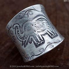 Handmade BOHO 925 Silver Ring-Gypsy-Artisan Silver Ring Size 6-7-8-9-10 JewelryBOHO item R051