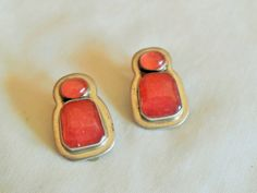 Amy Kahn Russell Sterling Ruby earrings by GingersLittleGems