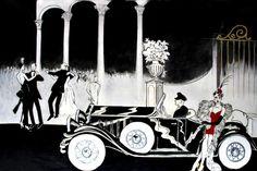 Art Deco Themed Scenic Backdrops < Art Deco Scene Back Drop Rentals   DreamWorld Backdrops