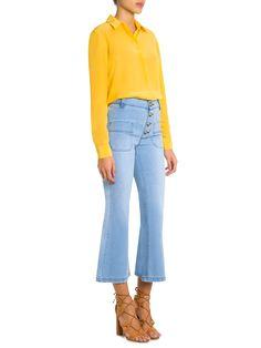 Camisa Feminina Seda Basic - Bobstore - Amarelo - Shop2gether