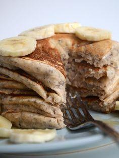 Vegan Chia Seed Pancakes - Delicious & healthy! #veganpancakes #chiarecipes
