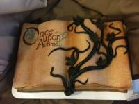 """Once Upon a Time Cake - maybe a little too """"dark"""" 16 Birthday Cake, 12th Birthday, Birthday Celebration, Once Upon A Time, Amazing Food Creations, Sweet Fifteen, Book Cakes, Disney Cakes, Happy B Day"""