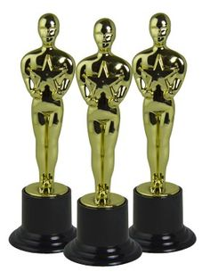 """Private Island Party  - Movie Award Trophy 9001,  We'd like to thank the academy for the ability to honor you!  Great for carnivals, youth sporting events, or red carpet parties our awards trophy measures approximately 6""""x3"""". Each sold separately. Recommended for ages 5 and up."""