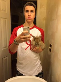Nash and a bunny! ^^