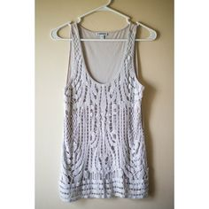NWOT Express Embellished Silver Tank Top beautiful top, perfect for dressing up a simple outfit, or great for going out. Express Tops Tank Tops