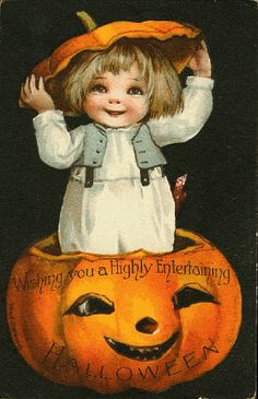 'wishing you a Highly Entertaining Halloween'  from vintagehalloweentreats