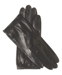 Women's Unlined Italian Fashion Leather Gloves With Short Wrist